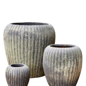 Patinated Clay Pot – Irma Large