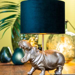 Matt Gold Hippo Lamp Base