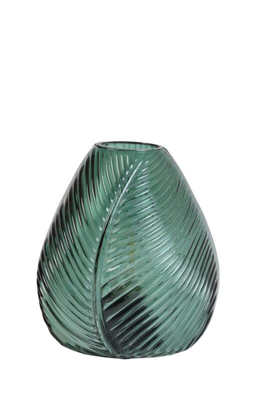 1850678 - Table lamp LED 13,5x15 cm LEAF glass dark green