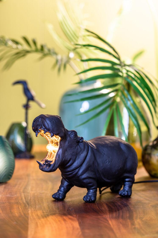 1854412_11 Hippo Lamp Large Black