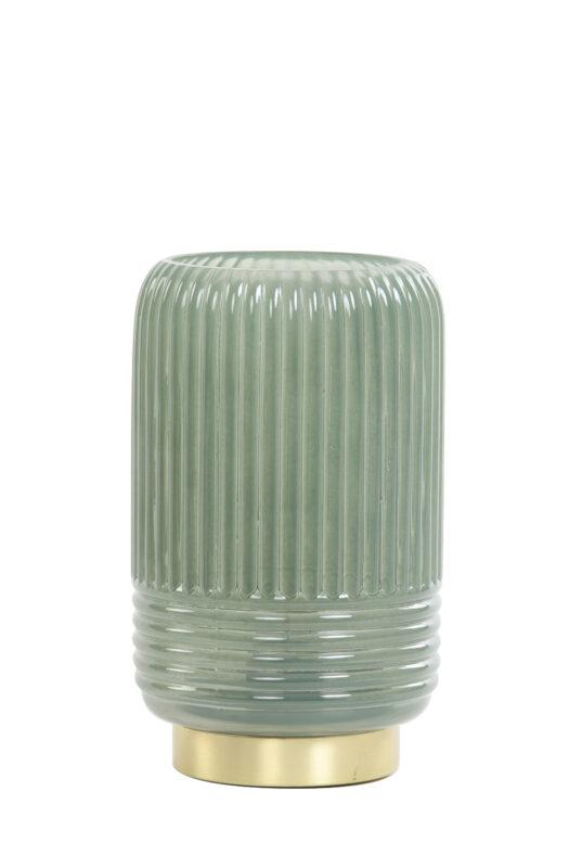 1859076 - Table lamp LED Ø12x18,5 cm LIPA glass grey green