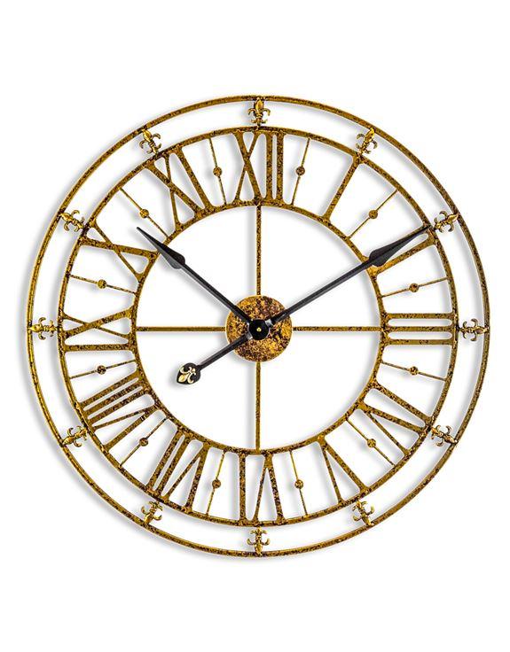 Remarkable Skeleton Gold Iron Wall Clock Download Free Architecture Designs Rallybritishbridgeorg