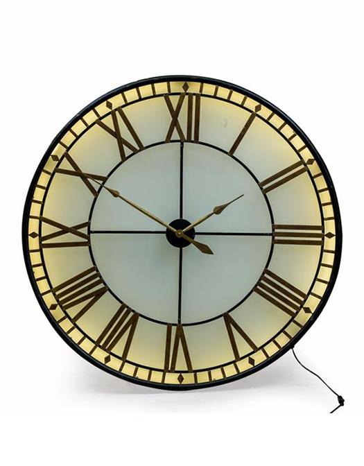 Awe Inspiring Black And Gold Back Lit Wall Clock Download Free Architecture Designs Rallybritishbridgeorg