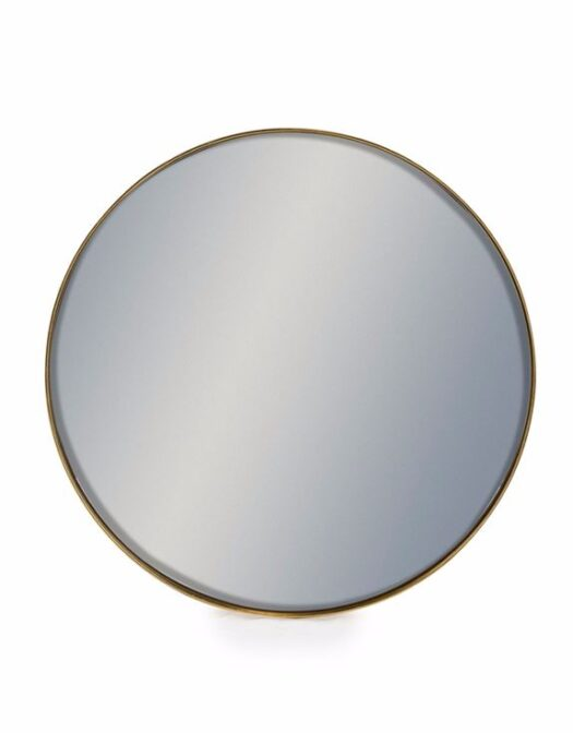 Round Gold Framed Arden Mirror available in Gold and 4 sizes. Buy online or visit Tang & Co. Home at Debden Barns