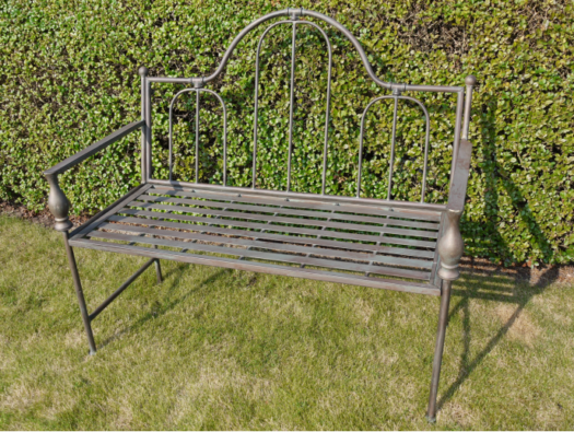 Dark Grey Metal Bench