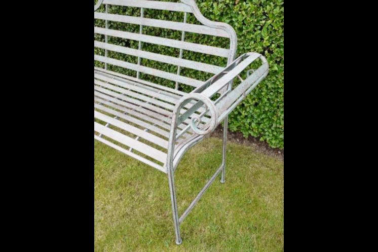 Grey Metal Bench