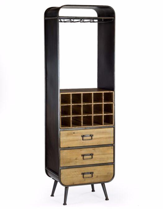 Retro Industrial Wine Bar cabinet