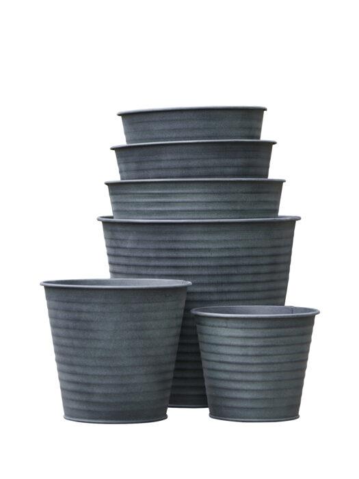 Tin planters 50105002-S6 B. Green AMALIE - MOSS GREEN