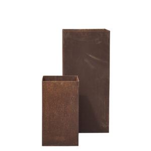 Large Trine Corten Steel Planters – Set of 2