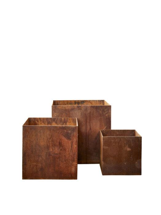 51108010-S3 B. Green Corten Steel Planters51108010-S3 B. Green Corten Steel Planters