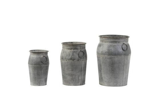 5906814 - Flower pot S:3 max Ø26x42 cm DAHLIA antique zinc