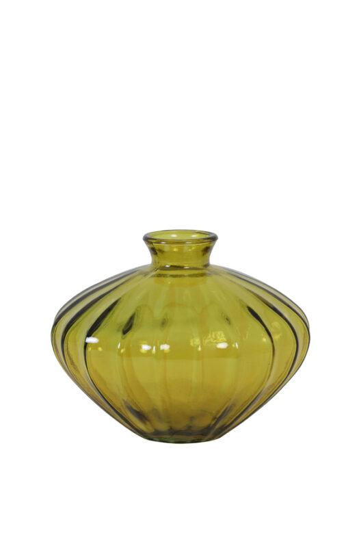5972560 - Vase Ø19x14 cm LOCARA Glass ocher