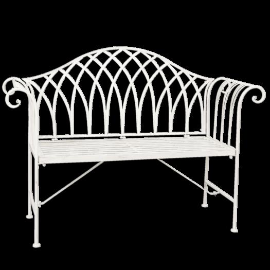 5Y0177 White Garden Bench