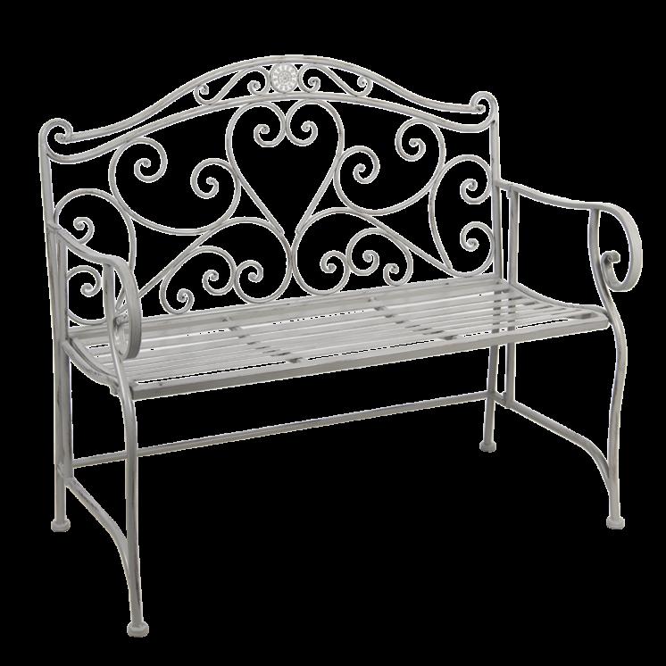 5Y0223G_1 Grey Metal Bench