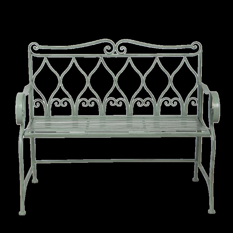5Y0765 Grey Iron Garden Bench