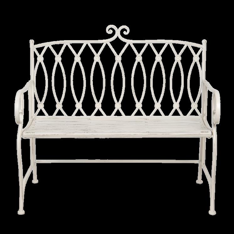 5Y0766 White Garden Bench
