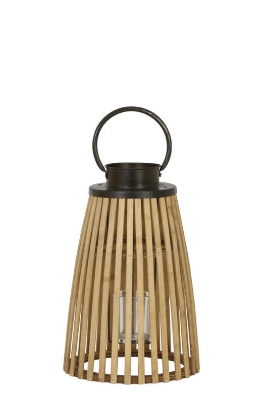 6179784 - Lantern Ø21x42 cm PAVIA bamboo+zinc