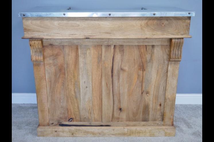 Industrial Bar Cabinet – Zinc Top