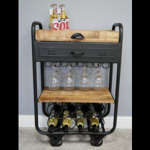Wine Trolley Metal/wood