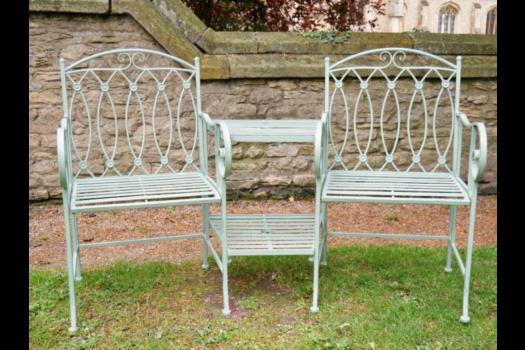 6402 Lovers Metal Garden Bench