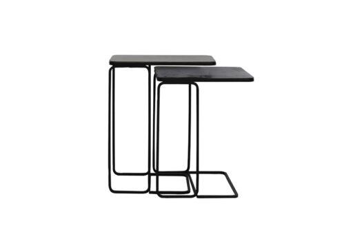 6744318 - Side table S:2 40x40x51+46x31x57 cm LAJA ant copper+bronze