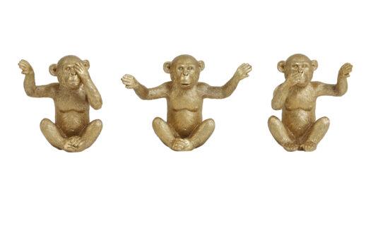 6979385_Ornament S:3 MONKEY gold