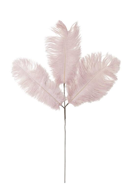 7422495 Old Pink Ostrich Feather Three Stem