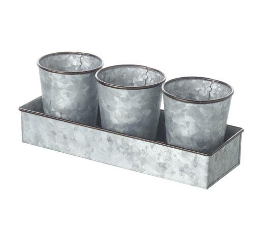 821032 Zinc Plant Pots