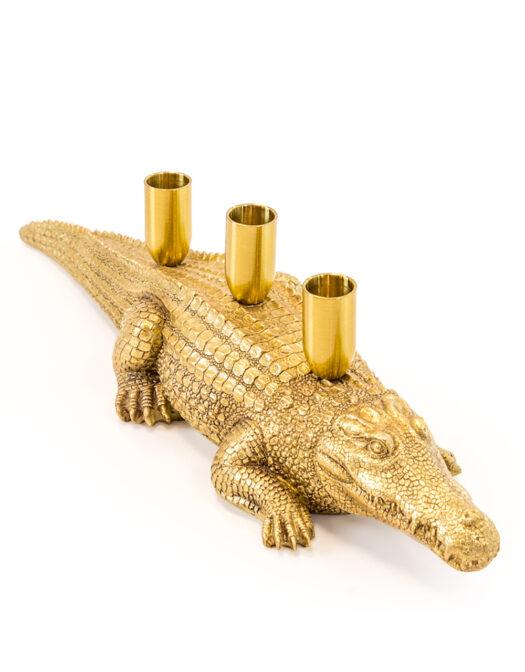 Antique Gold Crocodile Candle HolderAntique Gold Crocodile Candle Holder ANTIQUE GOLD CROCODILE CANDLE HOLDER ITEM CODE- CRT58