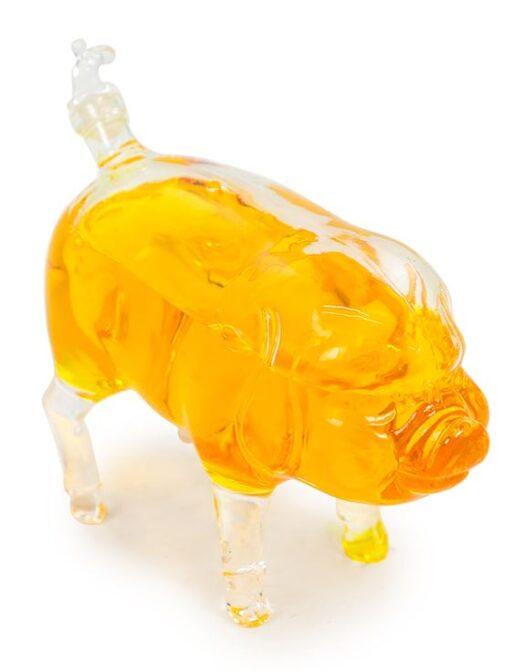 BKR13 A Pig Glass Drinks Decanter