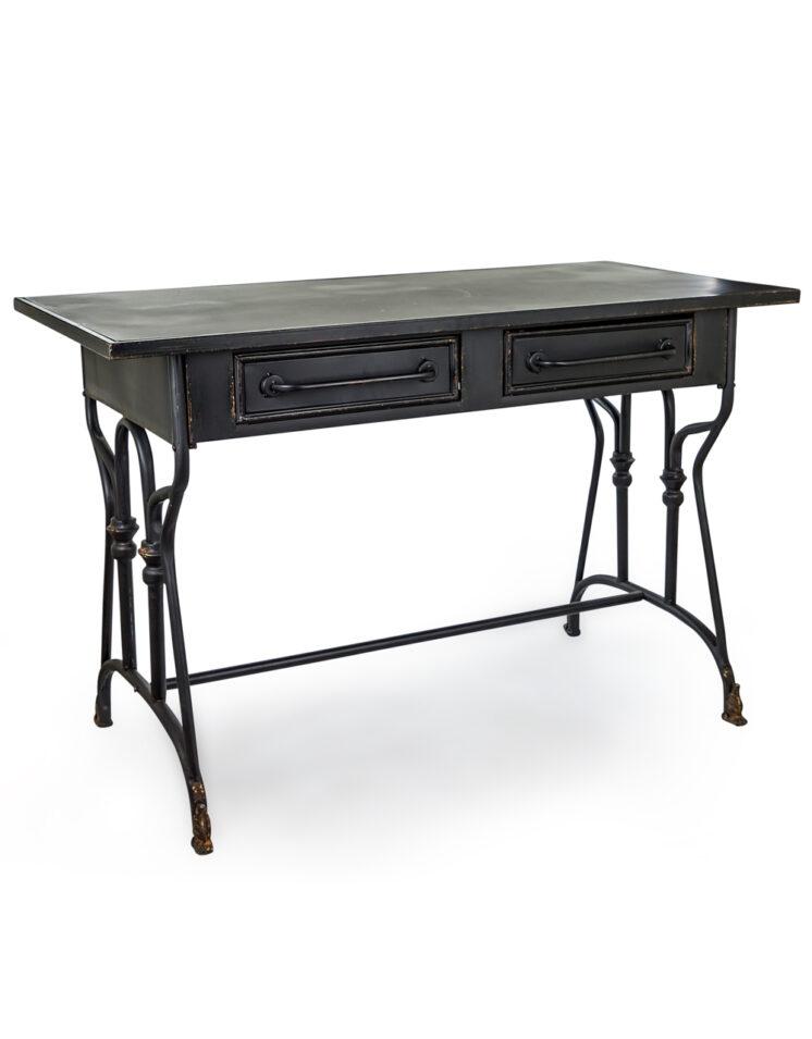 BLACK METAL VERNE DESK:TABLE ITEM CODE- VRN14