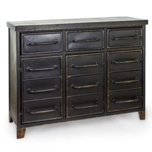 """Black Metal """"Verne"""" Multi Drawer Cabinet"""