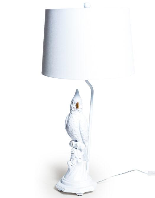 Matt White Parrot Table Lamp with White Shade