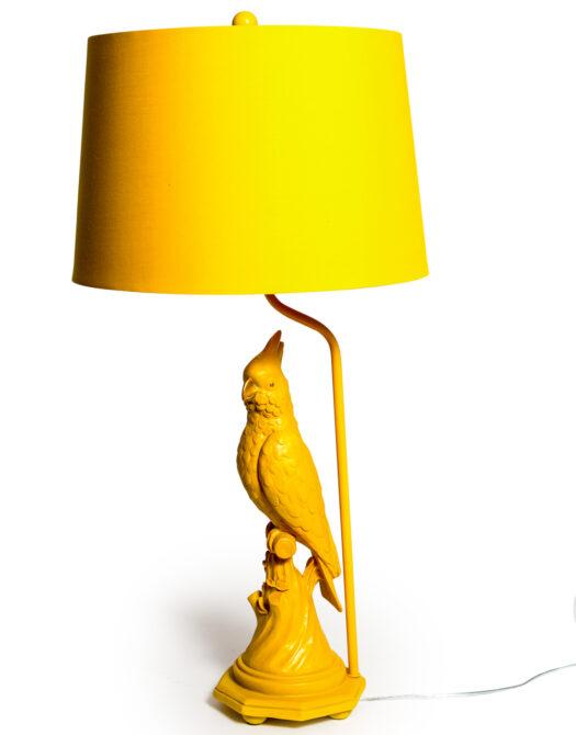 Matt Orange Parrot Table Lamp with Metallic Lined Orange Shade
