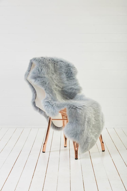 Double Sheepskin Rug Light Grey