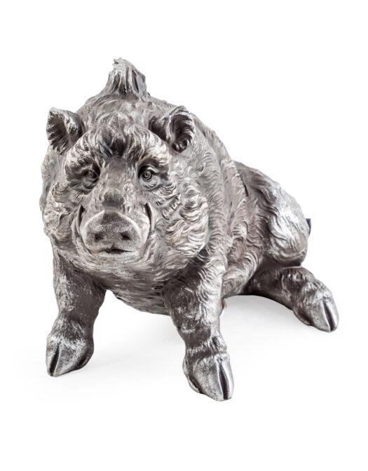 Bronze Effect Sitting Wild Boar Figure BRONZE EFFECT SITTING WILD BOAR FIGURE ITEM CODE- CRT50