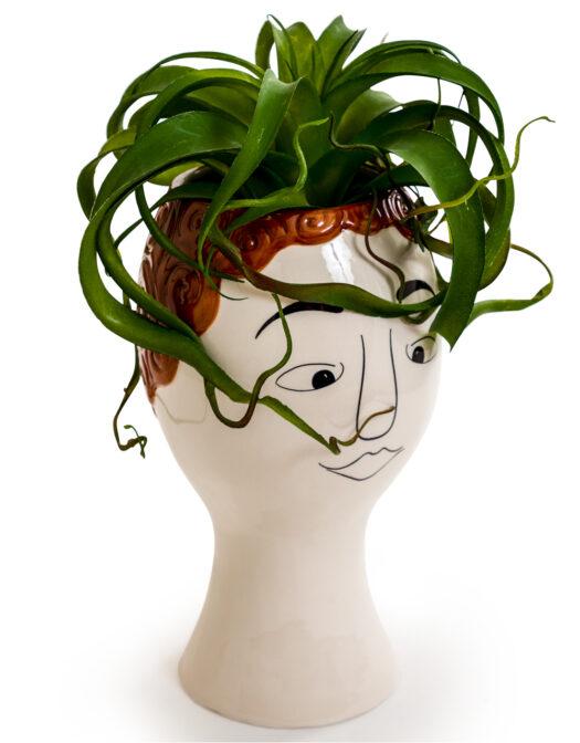 Ceramic Doodle Man's Face Vase - RedheadCeramic Doodle Man's Face Vase - Redhead CERAMIC DOODLE MAN'S FACE VASE - REDHEAD ITEM CODE- FPC20