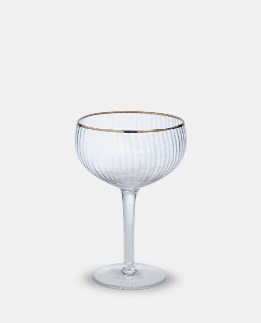 Coupe Glass - Gold Rim