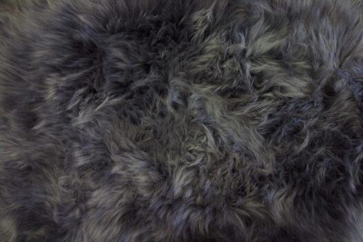 Single Dark Grey Sheepskin