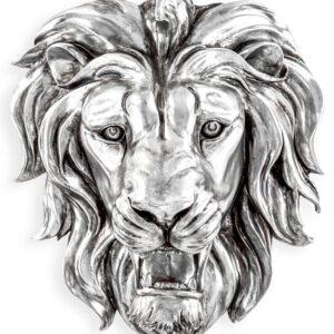 Large Roaring Lion Wall Head