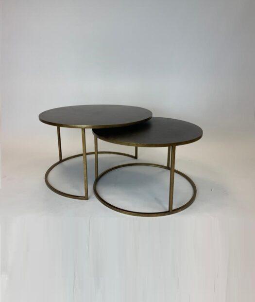 Antique metal nest table DWR19