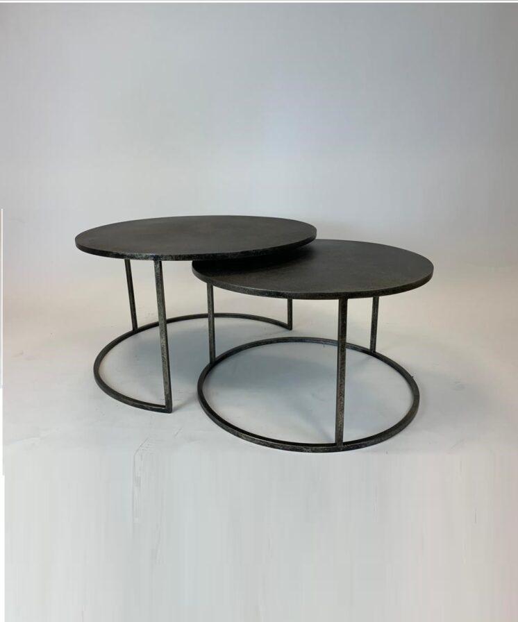 Antique metal nest table DWR20