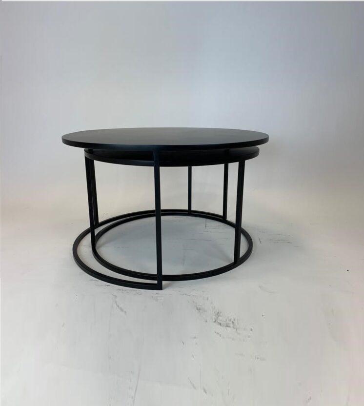 Antique metal nest table DWR21