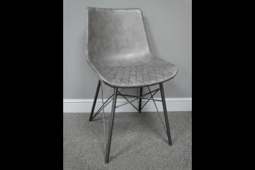 Dark Grey Leather Chair SN- 7134