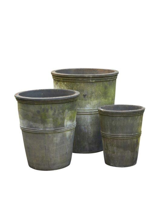 B. Green Large stone planters Dianna Choko Patina 10109020-S3