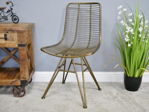 Dutch Gold Industrial Chair
