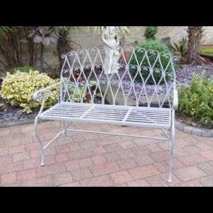 Grey/Green Garden Bench