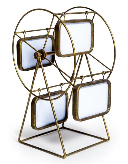 Gold Metal Ferris Wheel Multi Photo Frame