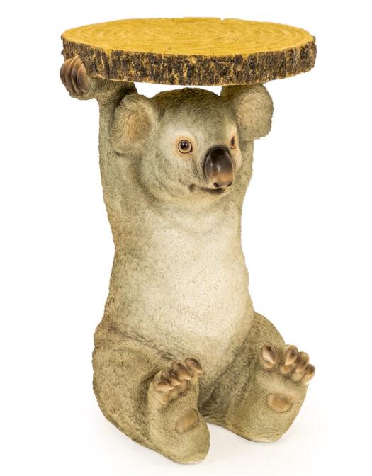Koala Holding Trunk Slice Side Table - BD164