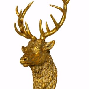 Antiqued Gold Stag Wall Head